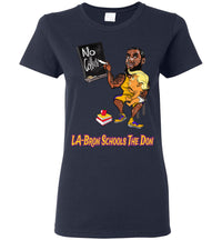 Women's LA-Bron Schools The Don Tee - Gold & Purple Outline