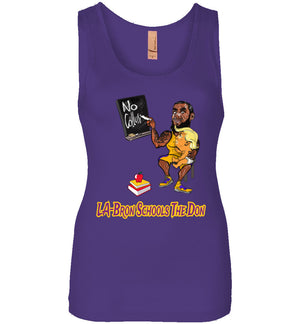Women's LA-Bron Schools The Don Tank - Purple w Gold Outline