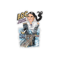 AOC The Queen of New York Kiss-Cut Stickers