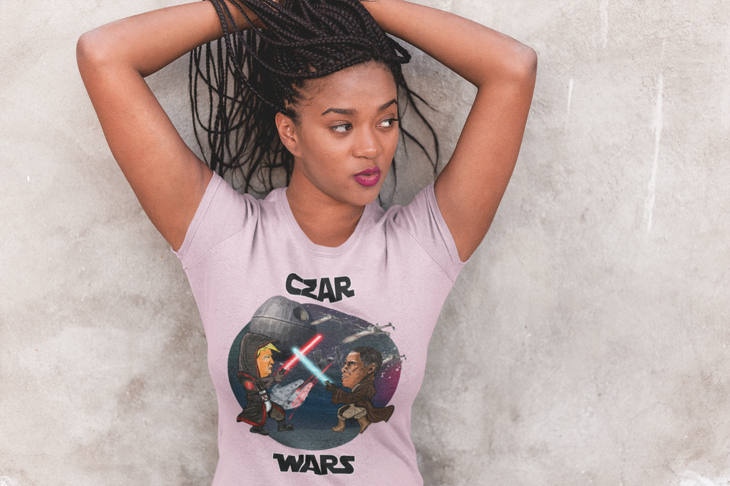Women's Czar Wars Tee - White Outline