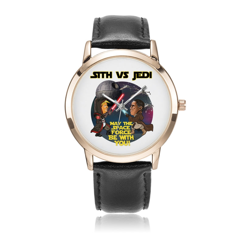 Sith vs Jedi Rose Gold Plated Quartz Watch