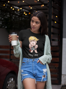 Women's Thug Life Baby Trump Tee - White Outline