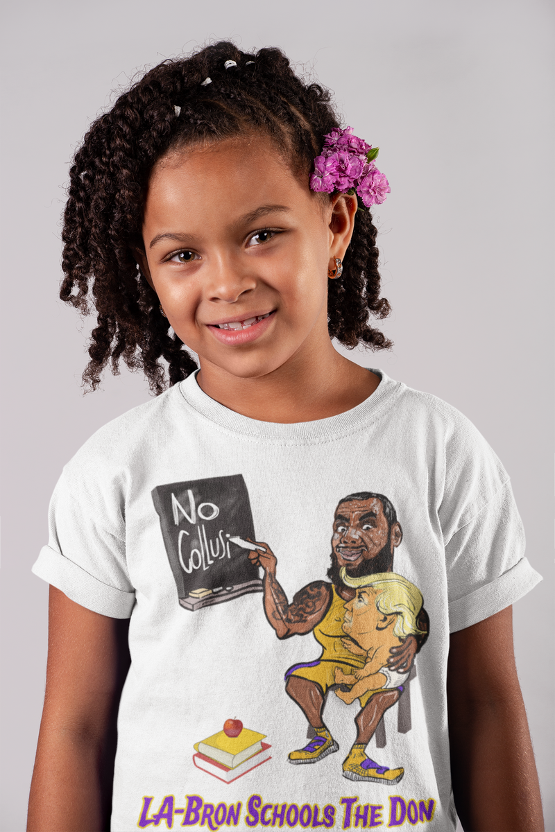 Women's LA-Bron Schools The Don Tee - Purple w Gold Outline