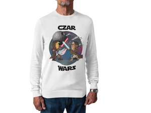 Czar Wars Long Sleeve Tee - White Outline