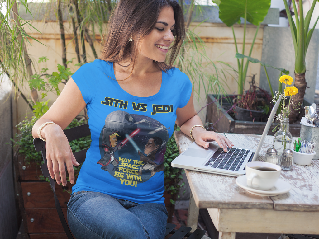 Women's Sith vs Jedi Scoop Neck Tee