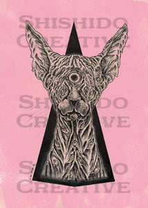 "All-Seeing Sphinx Cat - 5x7"" Art Print"
