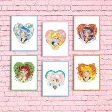 Winking Magical Girls Print Set (14 Prints)
