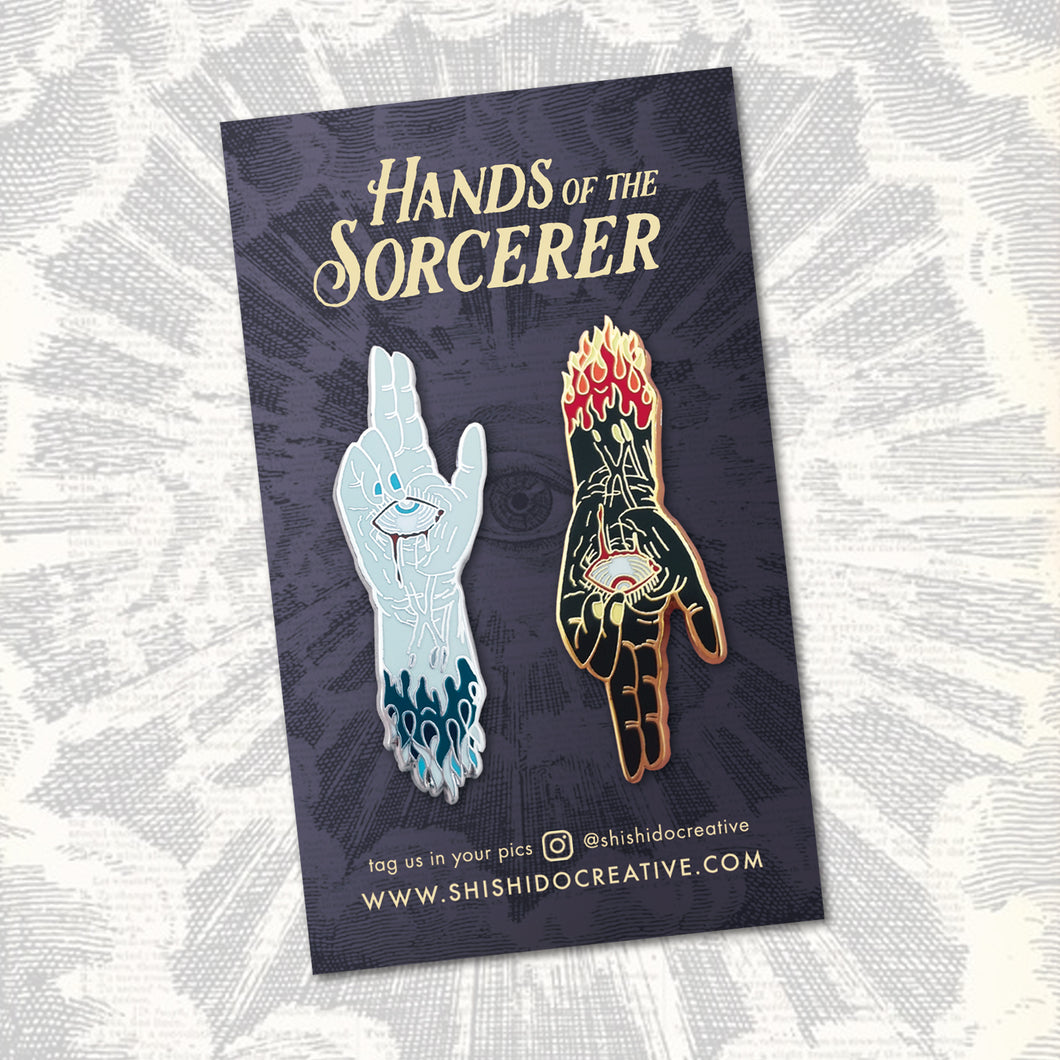 Hands of the Sorcerer Pin Set