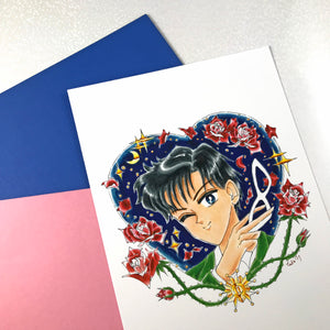 "5x7"" Winking Magical Girl Art Prints"