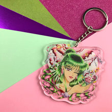 "2.5"" Winking Magical Girl Acrylic Keychains"
