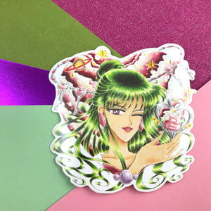 "3"" Winking Magical Girl Vinyl Sticker"