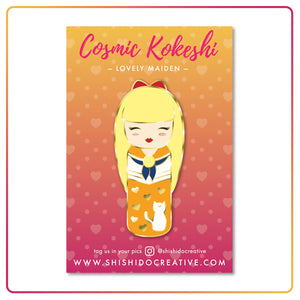 Kawaii Kokeshi Lovely Maiden Enamel Pin