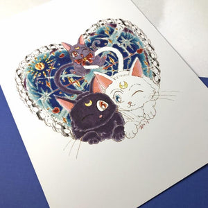 Cosmic Kitties Art Print