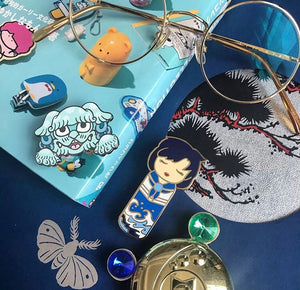 Kawaii Kokeshi Water Maiden Enamel Pin
