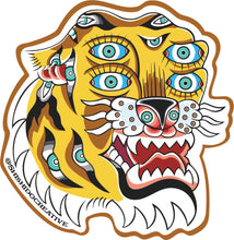 All Seeing Eyes Tiger Sticker