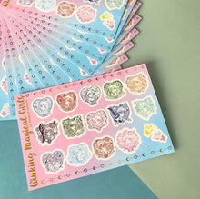 4x6 Winking Magical Girl Vinyl Sticker Sheet