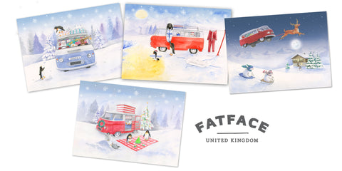 Fatface bespoke commission Christmas cards