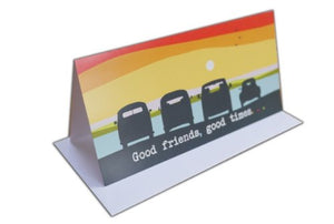 "Beetle and Campevans ""Good Friends, Good times"" Greeting Card"