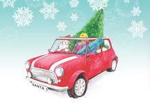 Mini Cooper Car inspired Christmas Cards