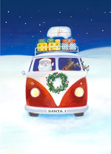 Campervan camper Christmas card multi pack by Ceinwe Campbell and The Arty Penguin