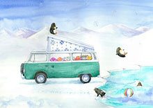 Bay campervan Christmas Cards; pack of 10 mixed designs