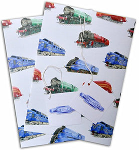 Trains Wrapping Paper