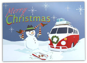 Campervan Christmas cards with a retro feel