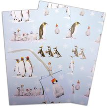 Penguins wrapping paper