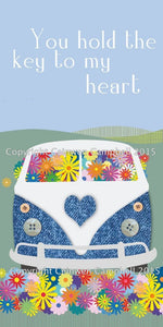 campervan greeting birthday valentine card