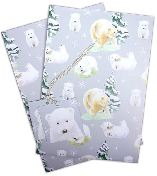 polar bear Hamish Gift wrapping paper