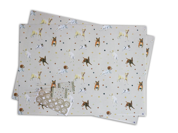 Dog Wrapping Paper; Retriever, Jack Russell, Labrador, Spaniel,Staffordshire Terrier