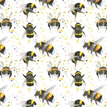 Bumble Bee gift wrapping paper by Ceinwen Campbell and The Arty Penguin
