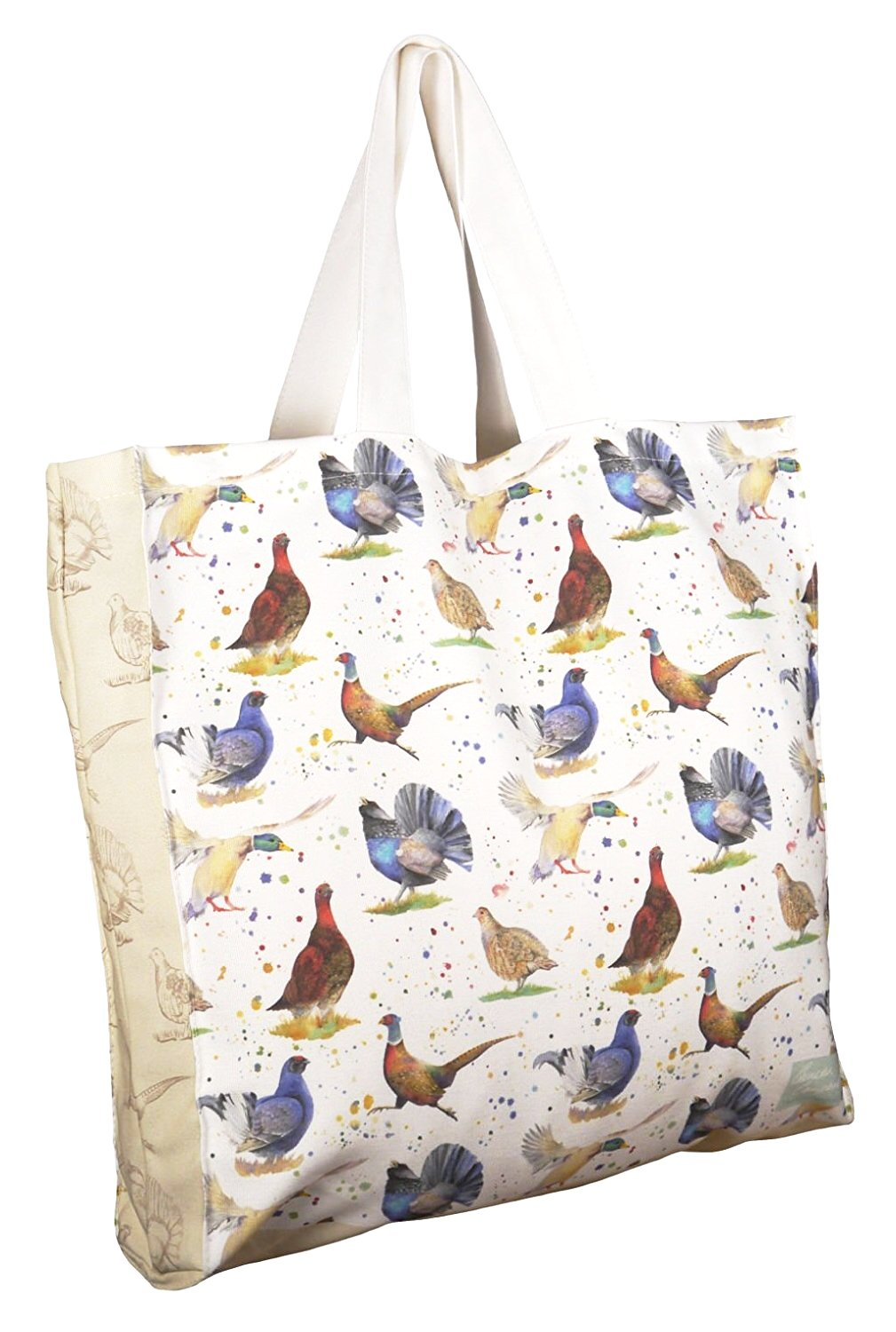 Pheasant capercaillie duck grouse tote shopping bag Ceinwen Campbell The Arty Penguin