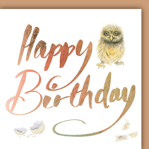 Owl Chick Birthday Card