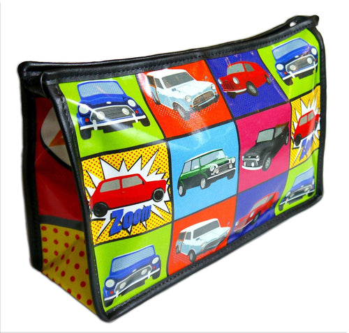 Mini Cooper Pop Art Inspired Toiletry Wash Bag