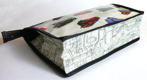 Trains Toiletry Wash Bag