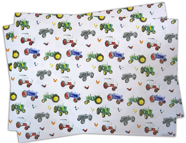 Tractor & Chicken Wrapping Paper