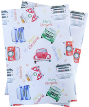 Campervan and Beetle Christmas Wrapping Paper
