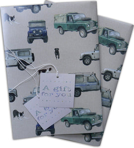 Classic Defender Off Roading 4 x 4 with dogs  Gift Wrapping Paper