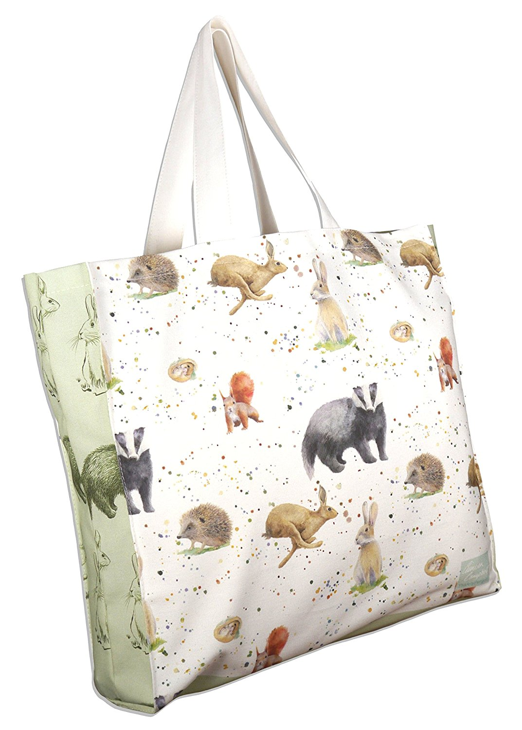 countryside animals shopping tote bag Ceinwen Campbell The Arty Penguin