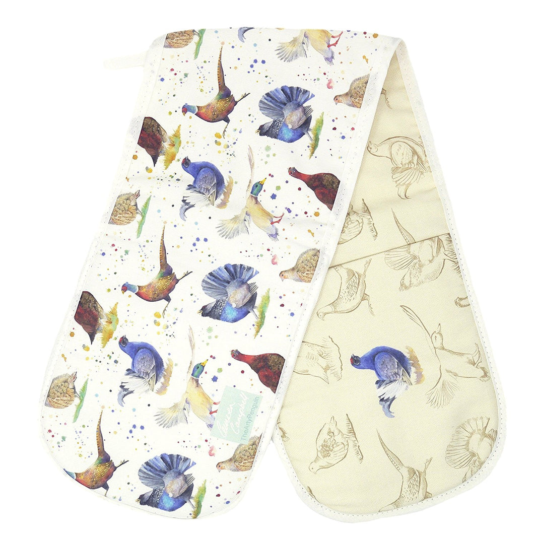 Pheasant duck capercaillie grouse game birds gift double oven gloves Ceinwen Campbell The Arty Penguin
