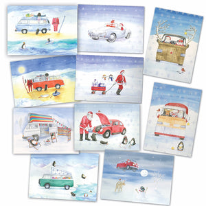 Campervan and car Watercolour collection 2016 Christmas Cards