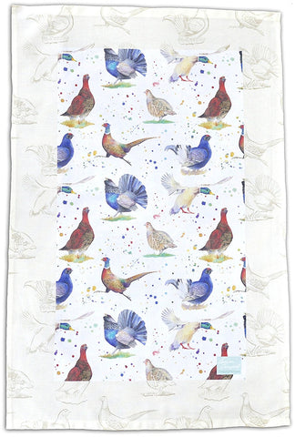 Game Birds Tea Towel