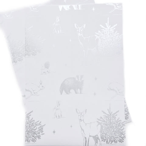 Country Animal Metallic Recyclable Wrapping Paper