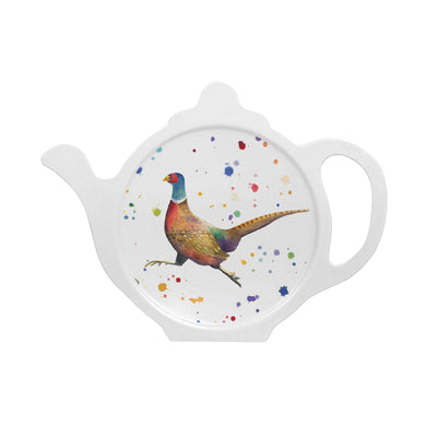 Pheasant tea bag tidy melamine made in Britain