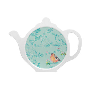 Bird chaffinch teabag tidy melamine made in Britain Ceinwen Campbell The Arty Penguin