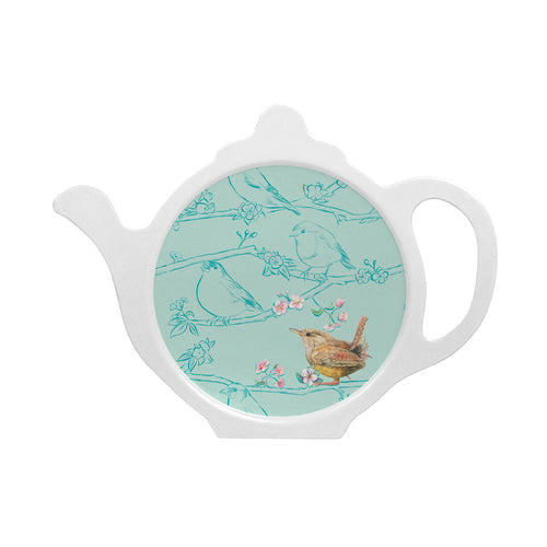 bird wren teabag tidy melamine made in Britain Ceinwen Campbell