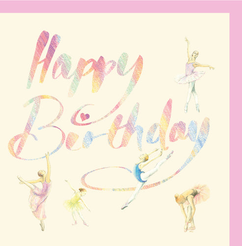 Ballet dancer ballerina birthday card