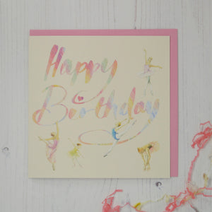 Ballet Dancer Birthday Card