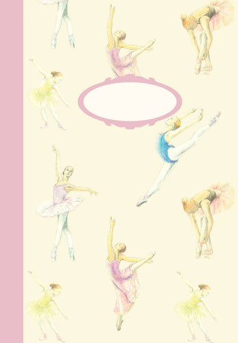 Ballet dancer ballerina jotter notebook